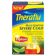 Buy Theraflu Multi-Symptom Medicine for Severe Cold with Lipton Green Tea & Honey by Novartis Consumer Health wholesale bulk | Cold and Flu