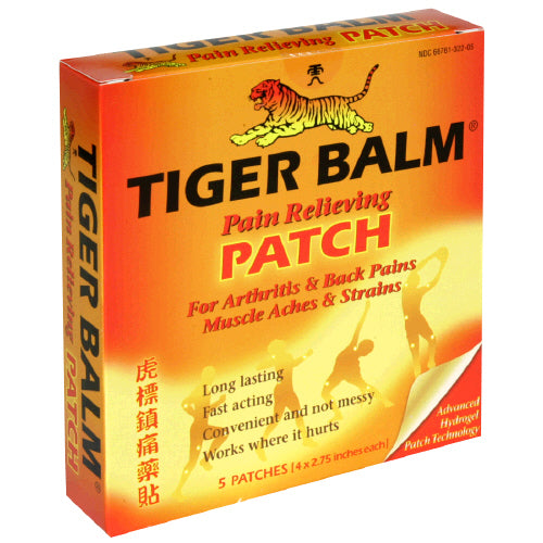 Tiger Balm Pain Relieving Patches, 5pk