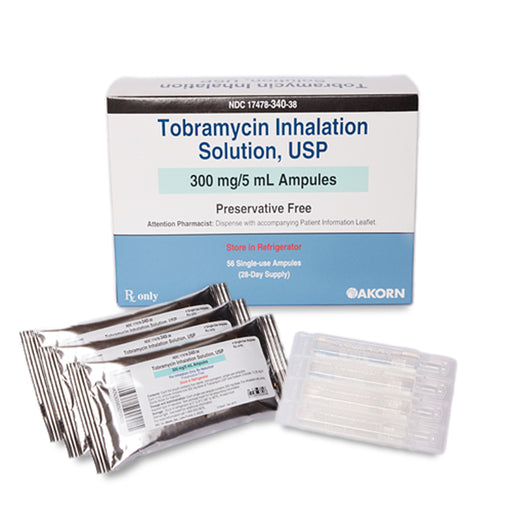 Tobramycin Inhalation Solution Ampules 300mg/5 mL Preservative Free