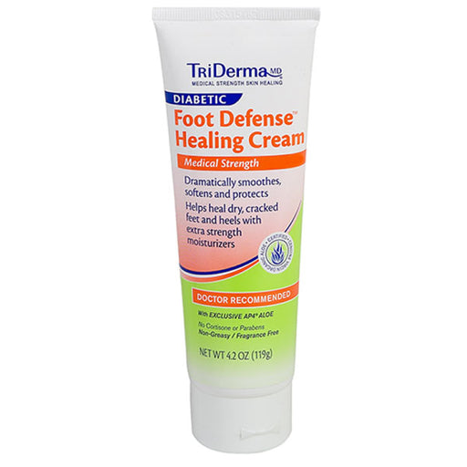 TriDerma Diabetic Foot Defense Healing Cream - Diabetic Skin Care - Mountainside Medical Equipment