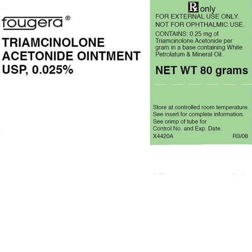 Triamcinolone Acetonide 0.025% Cream 80 Grams - Treat Dry Skin - Mountainside Medical Equipment