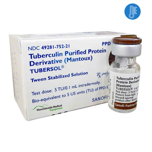Tubersol Tuberculin Purified Protein Derivative (Mantoux) 5 mL (50 Tests) - Tuberculin Vaccine - Mountainside Medical Equipment