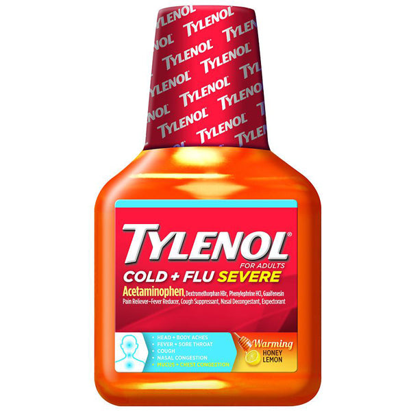 Tylenol Cold and Flu Severe Warming Honey Lemon Cold Medicine