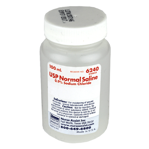 Normal Saline Solution for Irrigation 100 ml - IV & Irrigation - Mountainside Medical Equipment