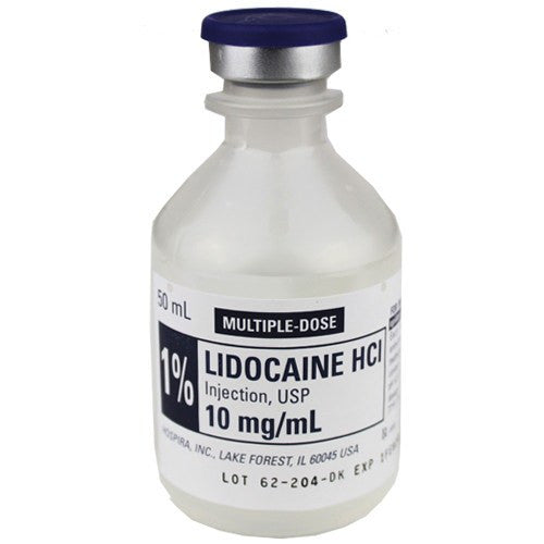 Hospira Lidocaine Hydrochloride 1% for Injection 50mL Vial - Intravenous Solution - Mountainside Medical Equipment