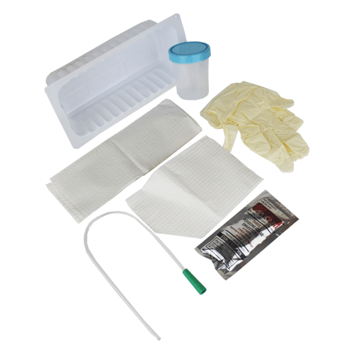 Urethral Catheterization Tray, Sterile - Foley Catheter Change Tray - Mountainside Medical Equipment