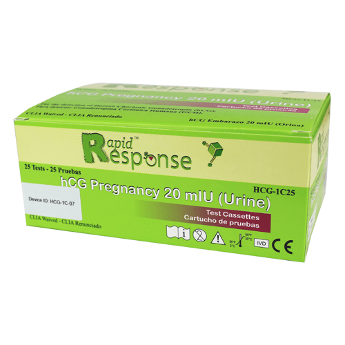 Bulk Pregnancy Tests Cassette, 25/Tests for Testing Kits by BTNX- Rapid Response | Medical Supplies