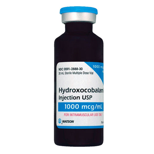 Vitamin B-12 Hydroxocobalamin for Injection 1000 mcg, Multiple Dose 30 mL - Vitamin B-12 Shot - Mountainside Medical Equipment
