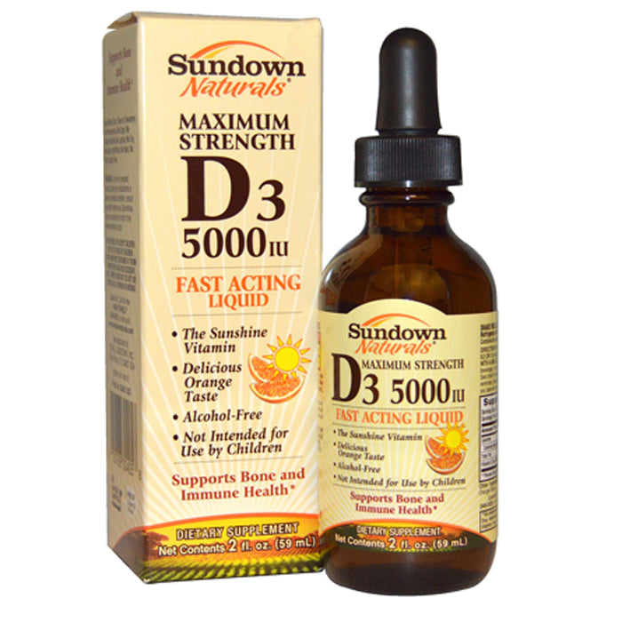 Vitamin D3 Liquid Maximum Strength 5000 IU by Sundown Naturals