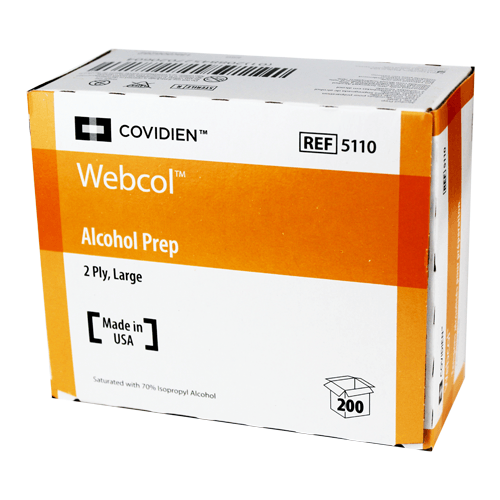 Buy Webcol Alcohol Prep Pads 200/Box online used to treat Alcohol Prep Pads - Medical Conditions
