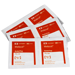 Buy Webcol Alcohol Prep Pads 200/Box by Covidien from a SDVOSB | Alcohol Prep Pads