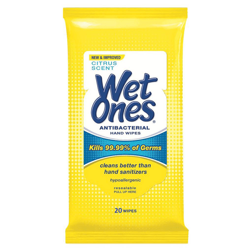 Wet Ones Antibacterial Hand Wipes, Citrus Scent