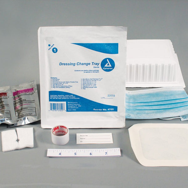 Dressing & Medical Tube Changing Tray, Sterile