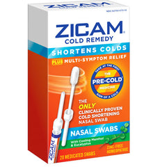 Buy Zicam Cold Remedy Nasal Swabs for Multi-Symptoms Cold Relief online used to treat Cold Relief Nasal Swabs - Medical Conditions