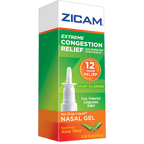 Zicam Extreme Congestion Cold and Allergy Relief Nasal Gel with Aloe