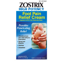 Buy Zostrix Neuropathy Diabetic Foot Pain Relieving Cream, High Potency 2oz online used to treat Pain Relief Cream - Medical Conditions