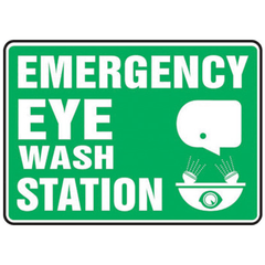 Buy Emergency Eye Wash Station Sign 10 x 14 Adhesive Vinyl by n/a | Home Medical Supplies Online
