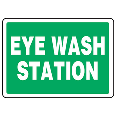 "Buy Green Eye Wash Station 7"" x 10"", Adhesive Vinyl online used to treat Eye Wash Safety - Medical Conditions"