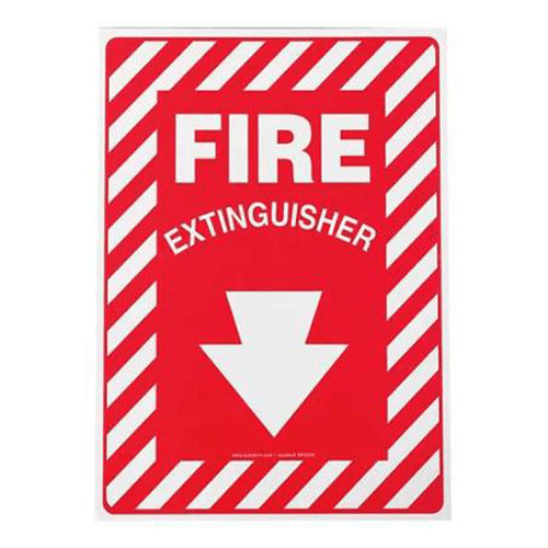 "Fire Extinguisher Location Sign 10"" x 7"", Adhesive Vinyl for Cleaning & Maintenance by n/a 