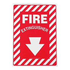"Buy Fire Extinguisher Location Sign 10"" x 7"", Adhesive Vinyl with Coupon Code from n/a Sale - Mountainside Medical Equipment"