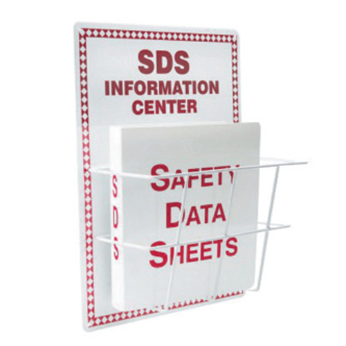 Buy Safety Data Sheet Wall Mounted Rack & Binder Set online used to treat Nursing Homes - Medical Conditions