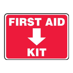 "Buy First Aid Kit Location Sign 10"" x 14"", Adhesive Vinyl online used to treat First Aid Supplies - Medical Conditions"