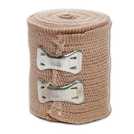 Elastic Wrap Bandage with Metal Clips (Case of 50)