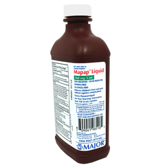 Buy Acetaminophen Liquid Pain / Fever Relief Elixir 160mg/5ml 16oz by Major Pharmaceuticals | Home Medical Supplies Online