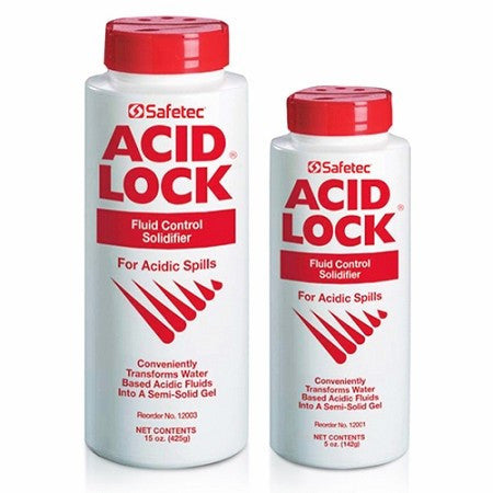 Acid Lock Solidifier Spill Containment Powder 5 oz for Spill Kits by Safetec | Medical Supplies
