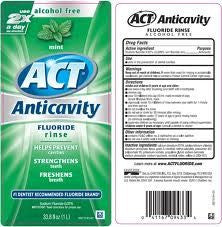 ACT Anticavity Fluoride Mouth Rinse Mint 18 oz for Personal Care & Hygiene by Chattem | Medical Supplies