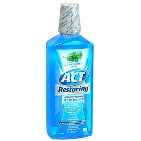 ACT Restoring Anticavity Mouthwash 18 oz