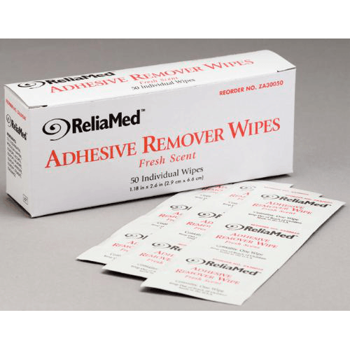 ReliaMed Adhesive Remover Wipes 50 Count - Adhesive Bandages - Mountainside Medical Equipment