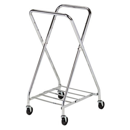 Adjustable Folding Steel Frame Medical Hamper for Isolation Supplies by Clinton Industries | Medical Supplies