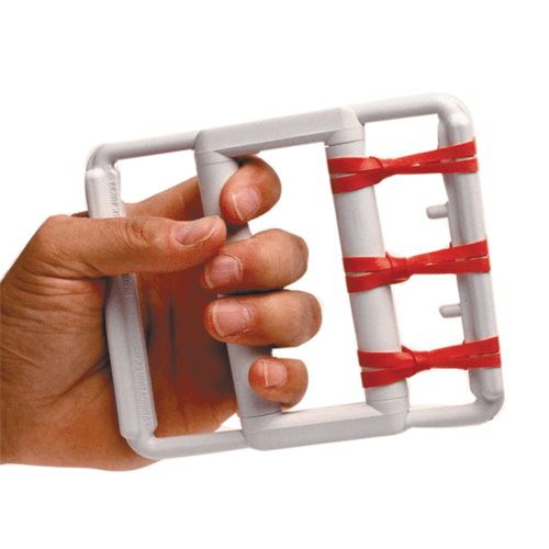 Hand & Finger Rubber-Band Flexion Exerciser with 5 Sets of Resistance for Rehab Supplies by Fabrication Enterprises | Medical Supplies