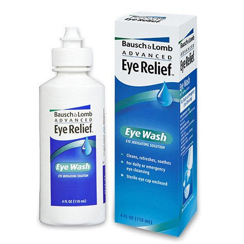 Bausch & Lomb Eye Relief Eye Wash Solution, Sterile 4 oz - Eye Wash Solution - Mountainside Medical Equipment
