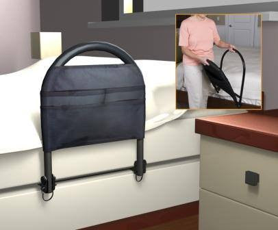 Bed Rail with Pocket Organizer - Hospital Beds - Mountainside Medical Equipment