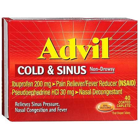 Advil Cold & Sinus Coated Caplets 20/Box - Allergy Relief - Mountainside Medical Equipment