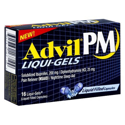 Advil PM Liqui-Gels Sleep Aid, 20/Box