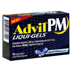 Buy Advil PM Liqui-Gels Sleep Aid, 20/Box by Wyeth Pfizer | Home Medical Supplies Online