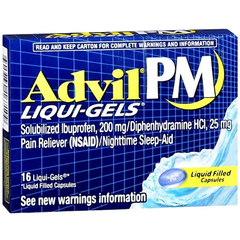 Buy Advil PM Liqui-Gels Sleep Aid, 20/Box with Coupon Code from Wyeth Pfizer Sale - Mountainside Medical Equipment