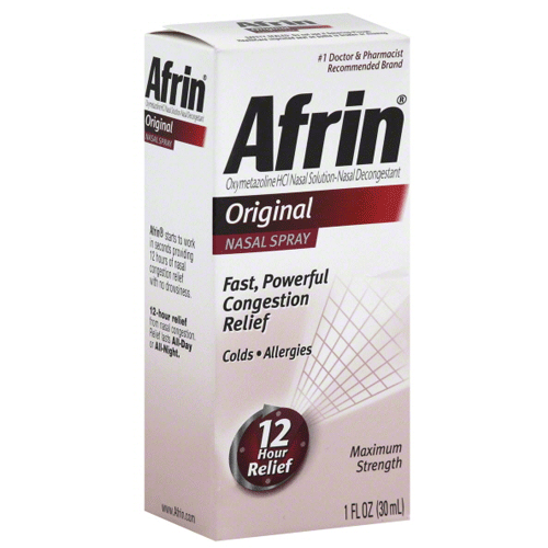 Afrin Nasal Spray 0.05%, 30 ml