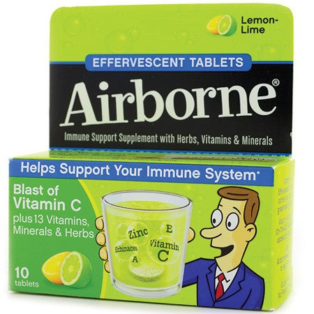 Airborne Original Immune System Support Lemon Lime