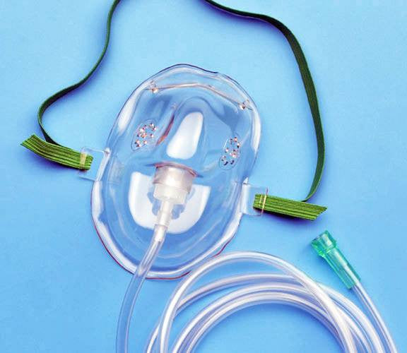 AirLife Adult Oxygen Mask with 7 Foot Tubing