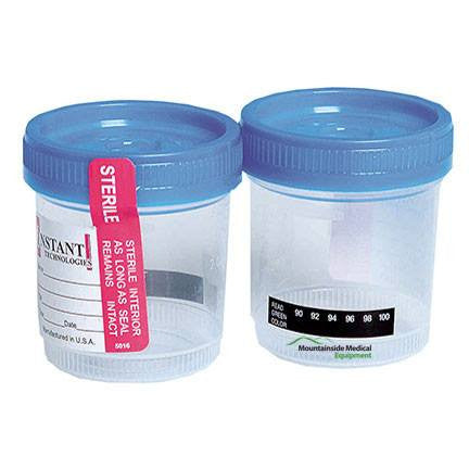 Alere Urine Specimen Collection Cup with Temperature Strip, 25 Pack