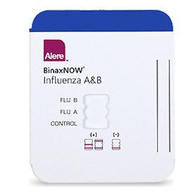 Alere Binaxnow Influenza A & B Testing Kit CLIA Waived, 10/Box