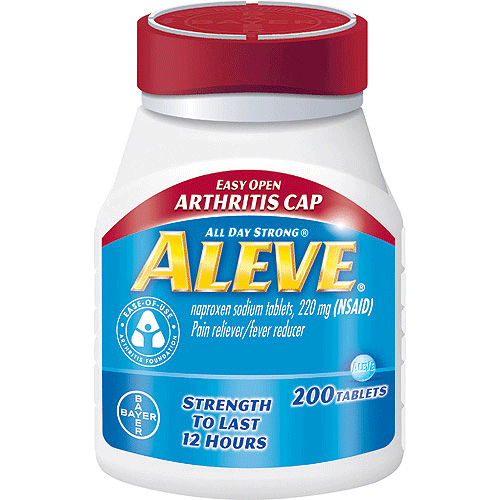 Aleve Arthritis Easy Open Cap with Soft Grip Bottle, 200 Tablets - Arthritis - Mountainside Medical Equipment