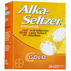 Alka Seltzer Gold Acid Relief Tablets 36/Box for Heartburn by Bayer Healthcare | Medical Supplies