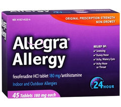 Buy Allegra Allergy 24 Hour Relief 45 Tablets with Coupon Code from Chattem Sale - Mountainside Medical Equipment