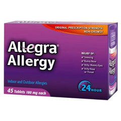 Buy Allegra Allergy 24 Hour Relief 45 Tablets by Chattem | Home Medical Supplies Online