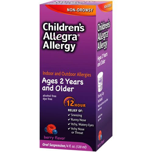 Allegra Children's 12 Hour Allergy Relief 4 oz - Allergy Relief - Mountainside Medical Equipment
